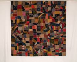 American Antique Wool Quilts - Betsey Telford-Goodwin's Rocky ... & Q8758 Wool Crazy Quilt with Felted Red Wool Top Ties Adamdwight.com