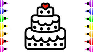 Coloring Page Maxresdefault Birthday Cake Drawing Coloring For