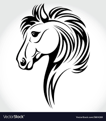 tribal horse head silhouette. Beautiful Silhouette Horse Head Tribal Vector Image Throughout Silhouette R