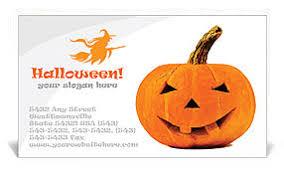 Halloween Business Cards Halloween Pumpkin Business Card Template Design Id