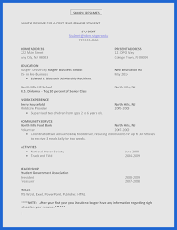 Resume Template With No Work Experience High School Student Resume