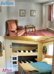 diy built in bunk beds into wall bedroom
