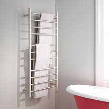 Towel Warmers Heated Towel Racks Signature Hardware - Bathroom towel bar height