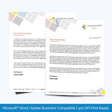 Letterheads Layouts Right Aligned Corporate Letterhead Template Word Layouts
