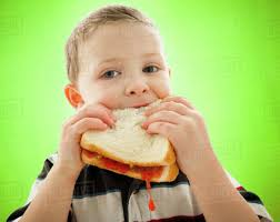 eating a peanut butter and jelly sandwich. Caucasian Boy Eating Peanut Butter And Jelly Sandwich Dissolve