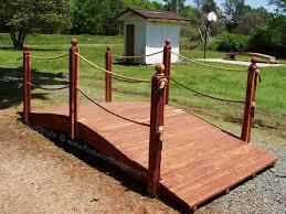 20 foot red cedar rope rail bridge with double rails