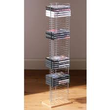 tower  free standing dvd storage rack  silver amazoncouk