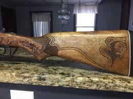 Gun Stock Carving Designs Pin On My Gun Stock Carvings