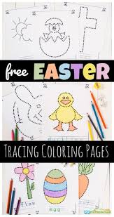 Part of a series of free preschool and kindergarten worksheets from k5 learning. Free Easter Tracing Coloring Pages