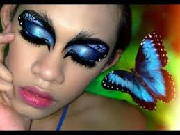 blue morpho erfly inspired makeup tutorial