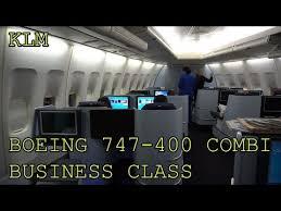 Klm Boeing 747 400 Combi Business Class Lower Deck