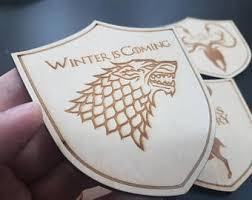 Game Of Thrones Stark House Crest Wooden Plaque Game thrones shield Etsy 38
