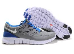nike mens running shoes. nike free run 2 mens running shoe gray blue shoes