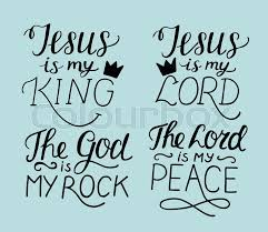 Christian Rock Quotes Best Of Set Of 24 Hand Lettering Christian Quotes Jesus Is My King Lord