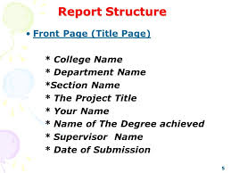 project report front page writing report techniques ppt video online download