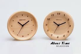 beladesign wooden desk clock