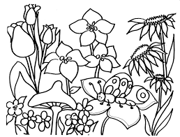Free Springtime Coloring Pages Many Interesting Cliparts
