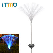 Colour Changing Solar Garden Lights Us 9 13 25 Off Itimo Colour Changing Solar Led Fibre Lamp Yard Path Fence Garden Lights For Home Corridor Decoration Light Sensor Wireless In Solar