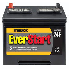 Everstart Maxx Lead Acid Automotive Battery Group Size 24f