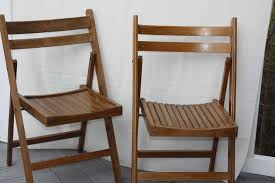 Vintage Folding Wooden Chairs Portia Double Day Stylish folding