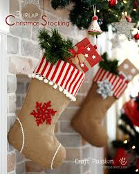 Christmas Stocking Sewing Pattern Stunning Burlap Christmas Stocking Free Sew Pattern Craft Passion