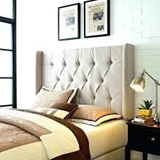 s leather padded headboard white tufted with nailheads