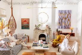 Zac Brooks Interior Design Inside Fashion Designer Ulla Johnsons Bohemian Brownstone