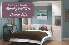 cons murphy wall bed or sleeper sofa