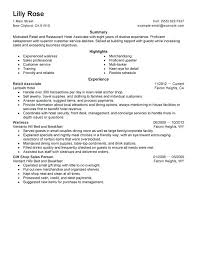 Sample Resumes Retail Retail And Restaurant Associate Resume Sample