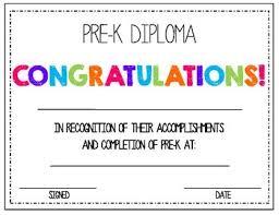 Prek Diploma Pre K Diploma By Absolute Imagination Teachers Pay Teachers