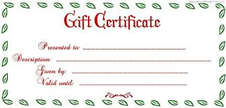 Uses For Gift Certificate Templates Blank Certificates Throughout