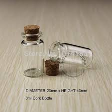 6ml small glass bottles vials jars with cork corks stopper decorative corked mini glass bottle for pendants perfume bottle stoppers perfume bottle top from