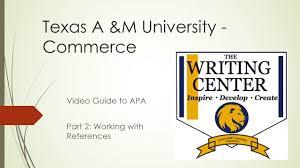 Resources Texas Am University Commerce
