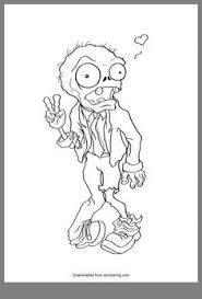 Zombie Coloring Pages Plants Vs Zombies Garden Warfare Free Page