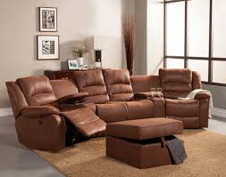 ... Movie Theater Sectional Sofas Alluring Brown Design ...