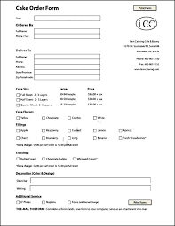 Custom Order Form Template Free Black Cake Sample Templates With Cookie