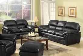 Living Room Designs With Black Leather Furniture Home Decorations - Black furniture living room