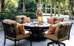 patio dining set with fire pit table large outdoor 9 piece brandeduco large round fire pit