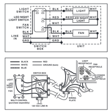 nutone bathroom fan wiring diagram nutone image nutone qtnledb lunaura fan light led night light online on nutone bathroom fan wiring diagram