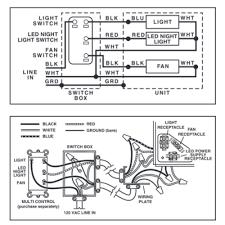 wiring diagram nutone bathroom fan wiring image nutone qtnledb lunaura fan light led night light online on wiring diagram nutone bathroom fan