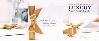 Luxury Personalized Handmade Wedding Anniversary Cards Personalised