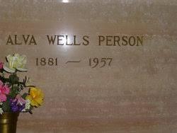 Alva Wells Person Sr. (1881-1957) - Find A Grave Memorial