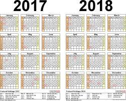 two year calender 2 year calendar printable printable calendar templates 2018