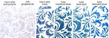 Hero Arts Shadow Ink Color Chart Video Ink Comparison Pigment And Dye Inks Jennifer