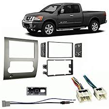 com fits nissan titan double din stereo harness fits nissan titan 2008 2012 double din stereo harness radio install dash kit
