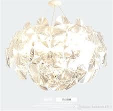 flower pendant light modern led crystal chandelier lamp glass art chandelier light leaf shape plates flower flower pendant light