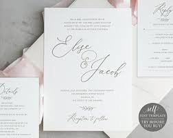 wedding invite template download wedding invitation template etsy