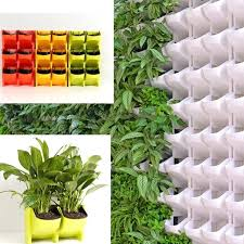 vertical plant plastic wall hanging vertical flower pot succulents planter for home garden indoors outdoors decor