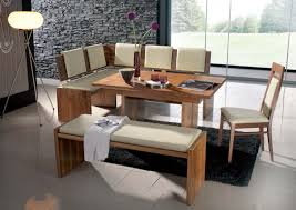Kitchen Table With Bench Set Kitchen Table With Bench And Chairs Dining Room Furniture On