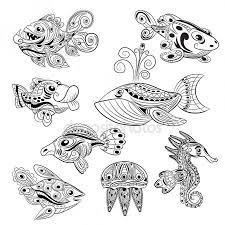 Deniz Atı Boyama Vektörler Ve Grafikleri Depositphotos
